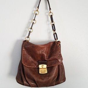 Marc by Marc Jacobs cognac shoulder flap bag
